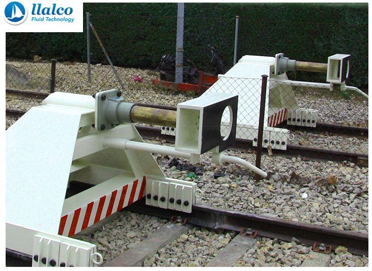 Buffer stops, sliding system