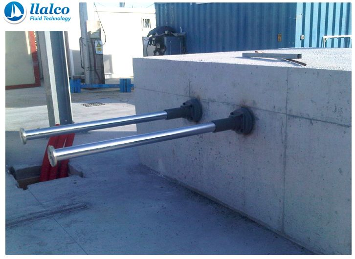 Fixed buffer stops, concrete fundation