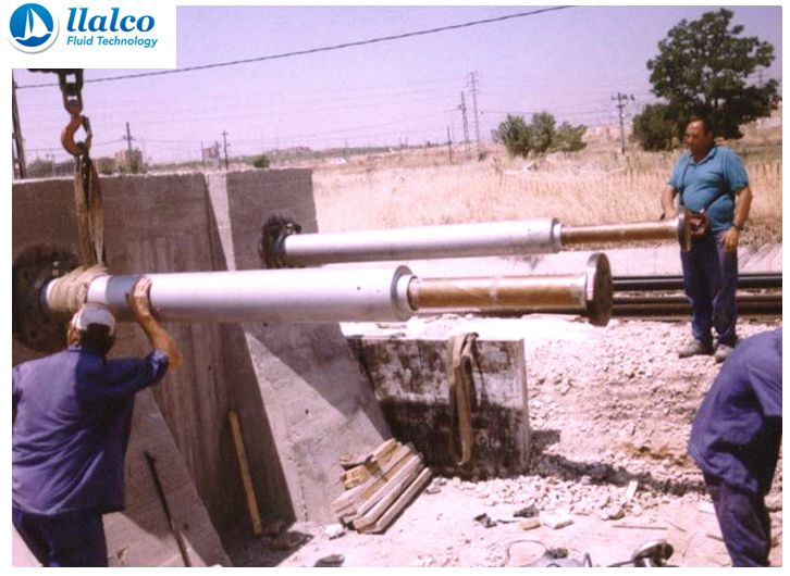 Gas hydraulic Buffer stop system installation process