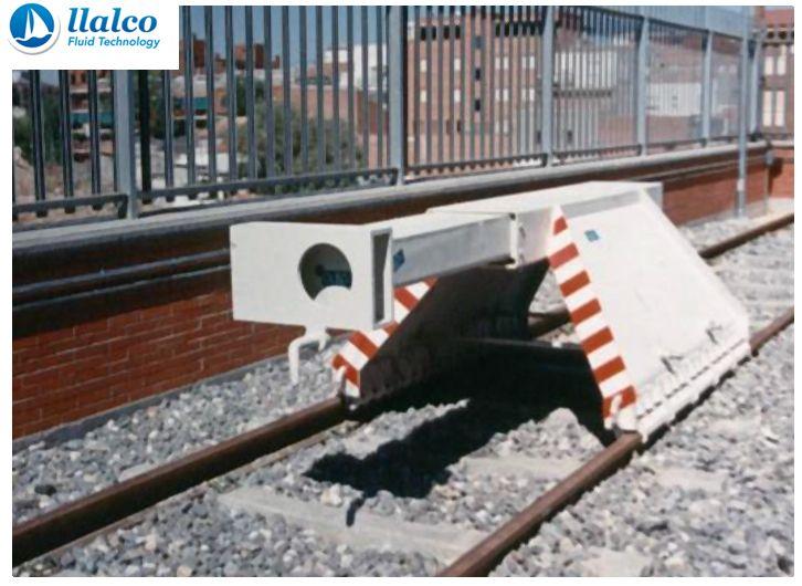 Buffer stop, sliding system